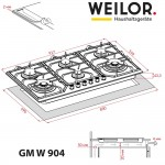 Gas surface on metal WEILOR GM W 904 SS