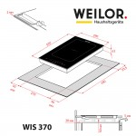 Induction Domino surface WEILOR WIS 370 BLACK