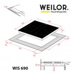 Induction surface WEILOR WIS 690 BLACK