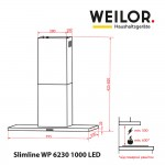 Hood decorative T-shaped WEILOR Slimline WP 6230 BL 1000 LED