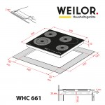 Glass ceramic surface WEILOR WHC 661 BLACK