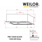 Fully built-in Hood WEILOR PBS 72650 GLASS WH 1250 LED Strip