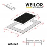 Induction surface Domino WEILOR WIS 322 BLACK