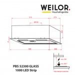 Fully built-in Hood WEILOR PBS 52300 GLASS WH 1000 LED Strip