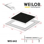 Induction surface WEILOR WIS 642 BS